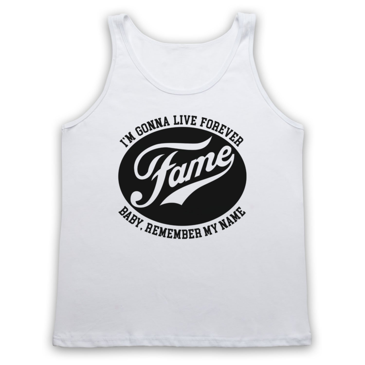 804438ab2e90 The Guns Of Brixton Fame I'm Gonna Live Forever Baby Remember My Name Tank  Top Vest: Amazon.co.uk: Clothing