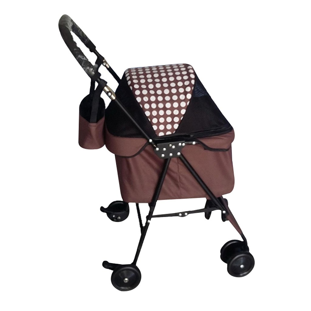 B Xuan Yuan Pet Stroller Small and Light Portable Foldable Earthquake Resistance Cat Stroller Puppy Scooter Outdoor Travel Pet Supplies @ (color   B)