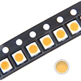 Chanzon 100 pcs 3528 Surface Mount PLCC 3.5mm x 2.8mm DC 3V 20mA 7-8LM Warm White 3000K SMD LED Diode Lights Chip Super Bright Lighting Bulb Lamps Electronics Components Light Emitting Diodes 1210