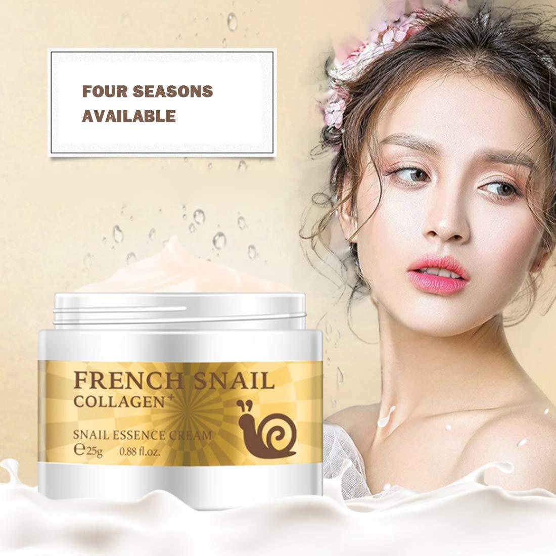 Loweryeah Snail Repair Anti-aging Cream 25g Collagen Moisturizing Nourish Repair Damaged Face Care Hyaluronic Acid Cream by Loweryeah (Image #2)