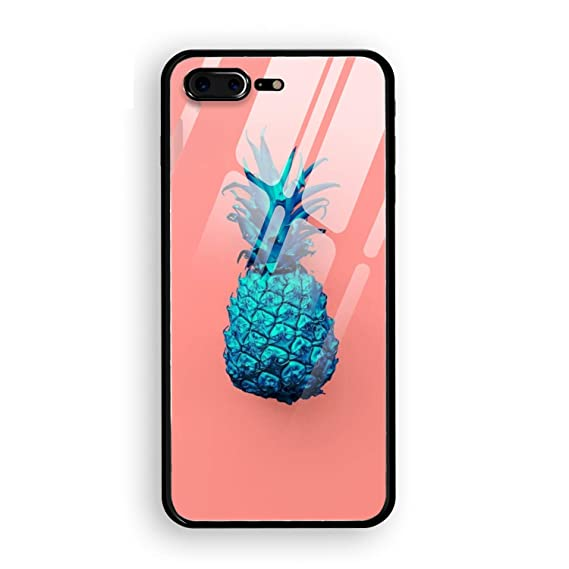 new arrival a240a 5db9e Amazon.com: iPhone 8 Plus Case, Fashion Neon Pineapple Tempered ...