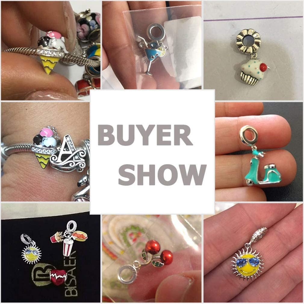 Summer Charms 925 Sterling Silver Charm Sweet Cake Candy Ice Cream Dangle Pendant Charms Fit Charm Bracelet Jewelry