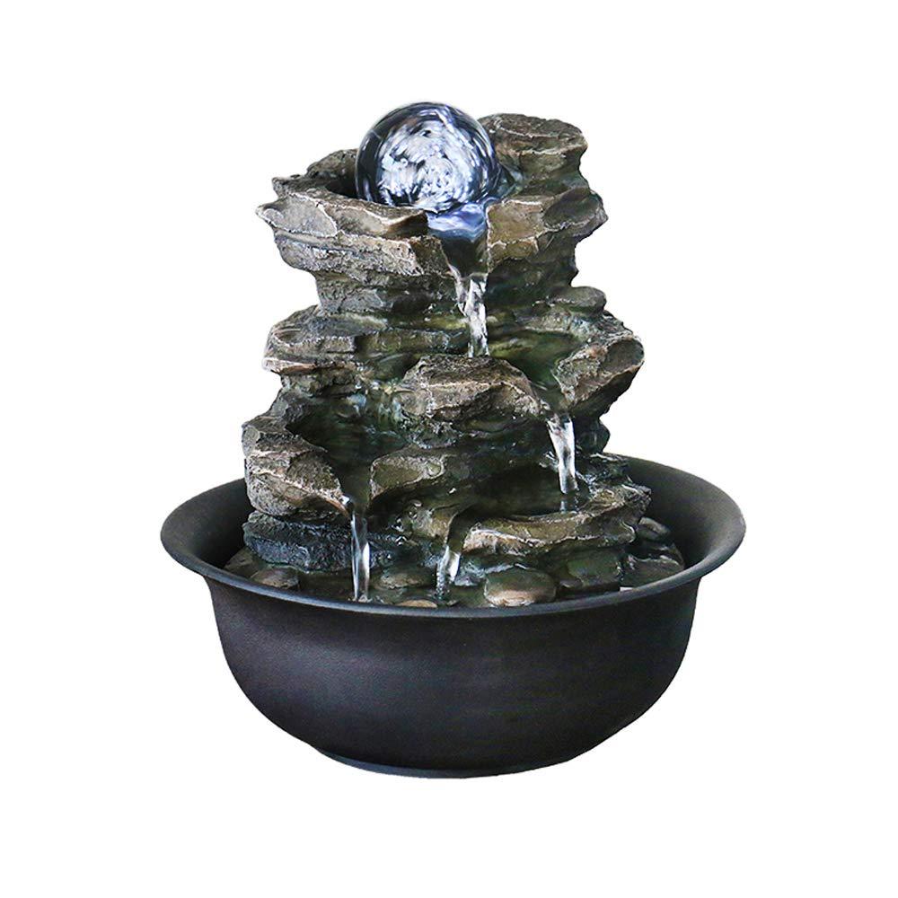 21cm simple living room rockery fountain fountain table wind wheel ornaments 20 20 ZYP Desktop Fountain