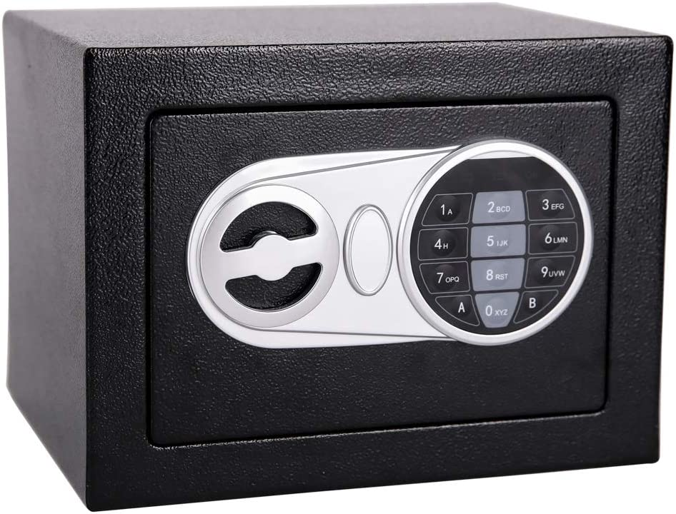 Homeyuer Security Safe Box with Induction Light,Electronic Digital Securit Safe Steel Construction,for BusinessGun Passport,Jewelry and Cash, Suitable for Use in Homes,Hotels,Dormitories and Offices