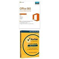 Microsoft Office 365 Home [5 PC / 1 anno] (Versione 2016) + Norton Security Deluxe 2018 - 5 dispositivi, 1 anno