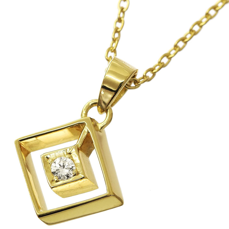 クリスチャン ディオール ダイヤ ネックレス K18YG 40cm 18金イエローゴールド 750 Christian Dior 【中古】 90052483 B07FKKS8JQ