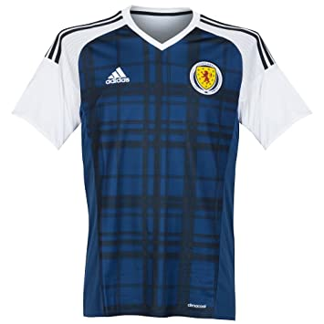 b863eb8541 adidas 2016-2017 Scotland Home Football Soccer T-Shirt Maillot ...