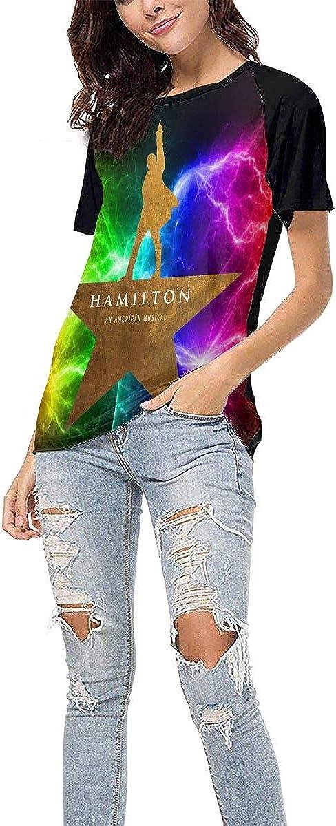 Hamilton Shirt Women Baseball T Shirt Short Sleeve Round Neck T Shirts