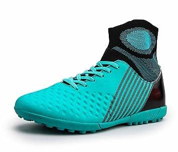 GLSHI Hombres Zapatos De Soccer 2018 Otoño Ligero Zapatillas De Punto Cima Mas Alta Uña Entrenadores: Amazon.es: Deportes y aire libre