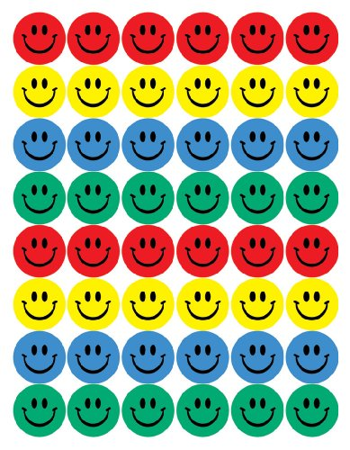 Eureka Smile Faces Stickers, Large (Inexpensive Gifts For Large Groups)