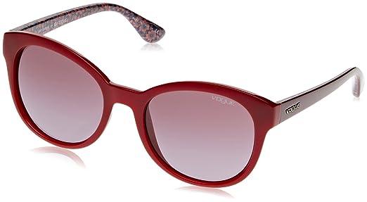 Vogue Unisex Sonnenbrille VO2795S, Gr. One Size (Herstellergröße: 53), Rot (Red 23408H)