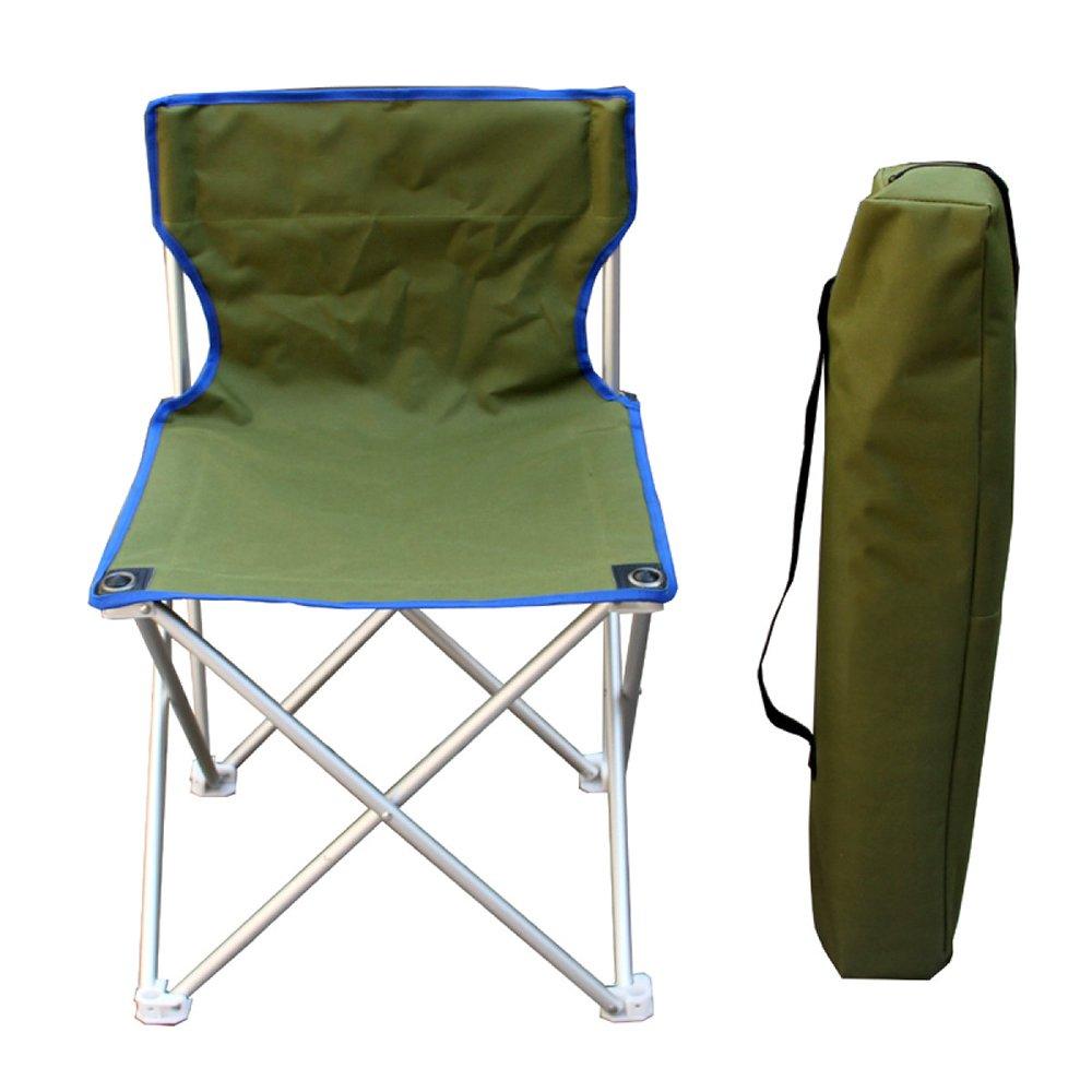 LDFN Tragbarer Campingstuhl Outdoor Multifunktionsstuhl Strandkorb Oxford Stoff Aluminium Stuhl,Grün-484873cm