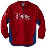 MLB Philadelphia Phillies Triple Peak Gamer Red/Blue Long Sleeve Lightweight 1/4 Zip Gamer Youth Jacket, Red/Blue, Small