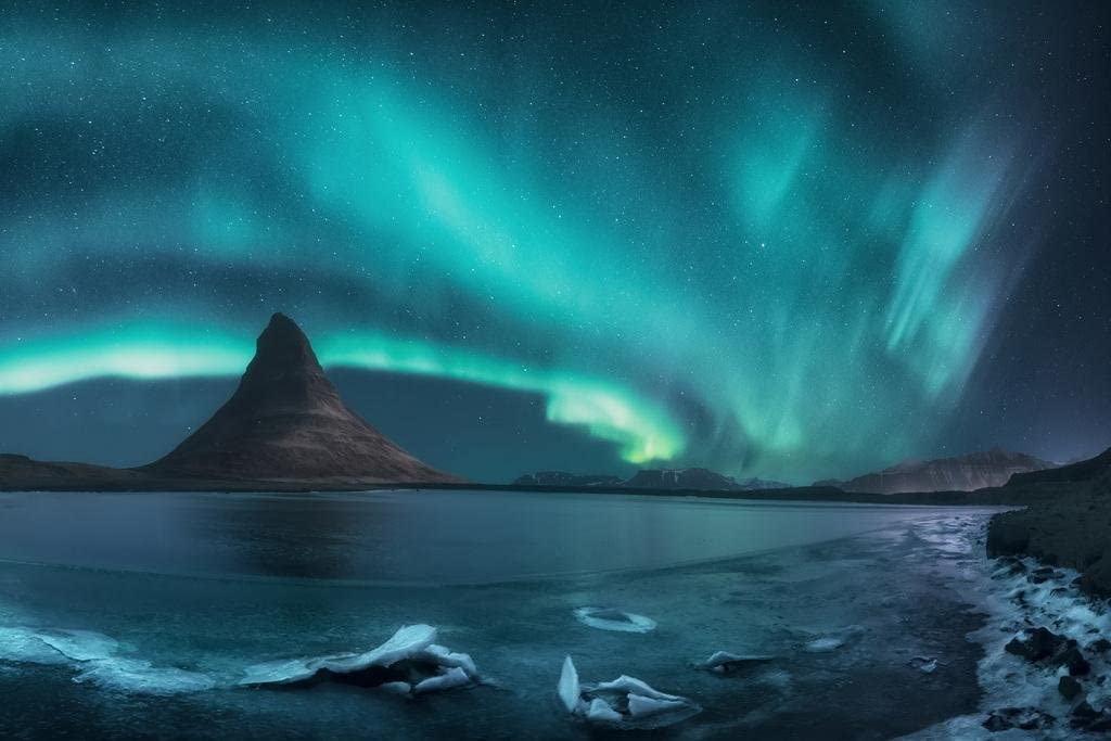 Iceland Northern Lights Photo Cool Wall Decor Art Print Poster 24x36