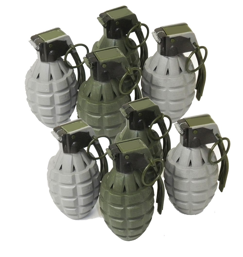 Toy Pineapple Hand Grenades with Sound Effects - 8 Pack Combat Force