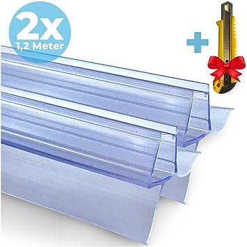 2x Junta de goma de repuesto para cabina de ducha 2x120 cm + CUCHILLO GRATIS |