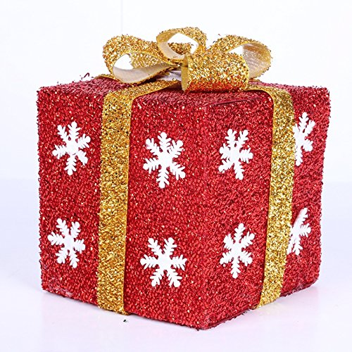 Outdoor Lighted Christmas Packages Decorations