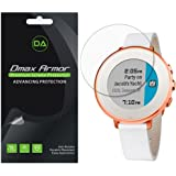 Pebble Time Round 14mm Screen Protector, [6-Pack] Dmax Armor Anti-Bubble HD Clear Screen Shield -Lifetime Replacements Warranty- Retail Packaging