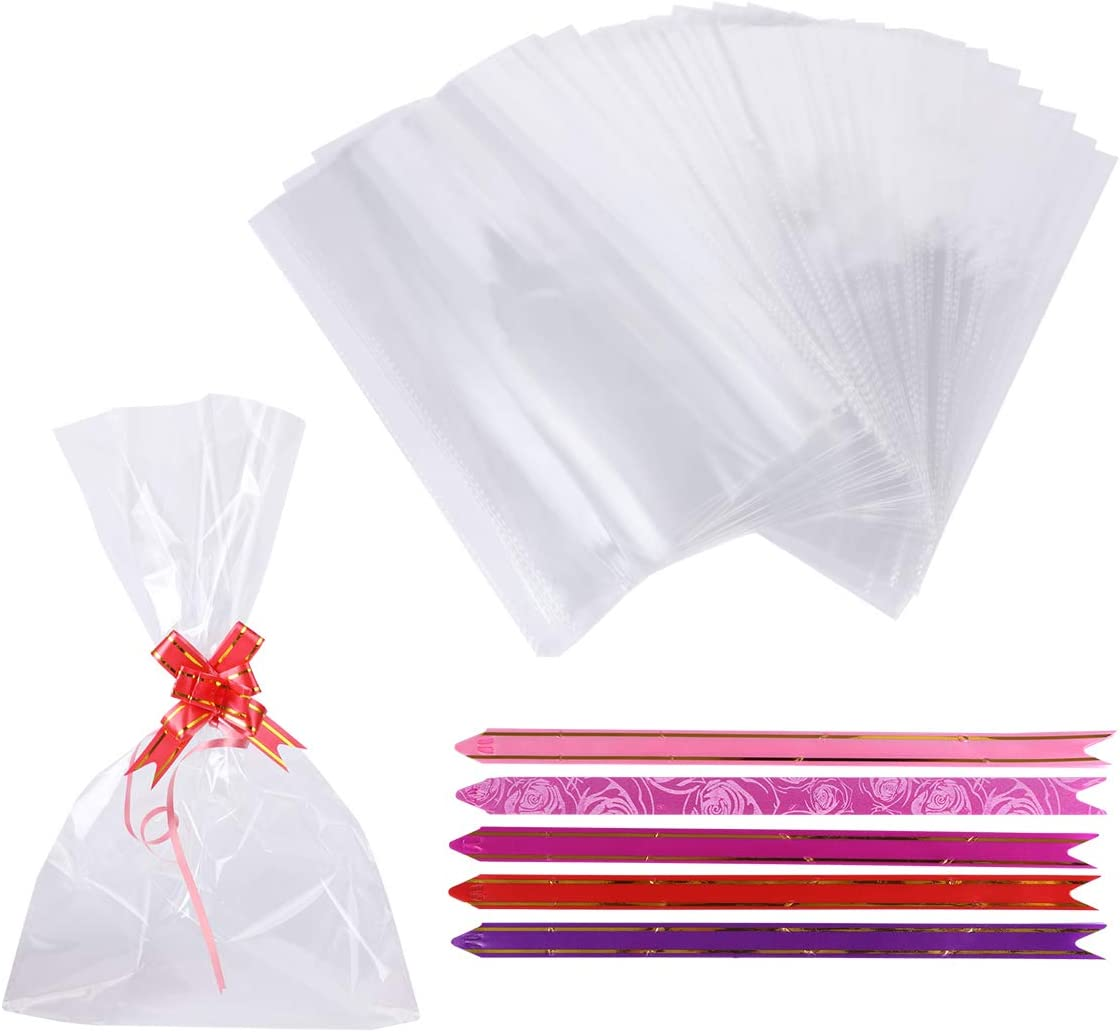 mini cellophane bags with card top