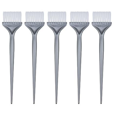 5 Piezas Cepillos de Coloración de Pelo Kit de Teñir Cabello Cepillo de Blanqueador de Peluquería