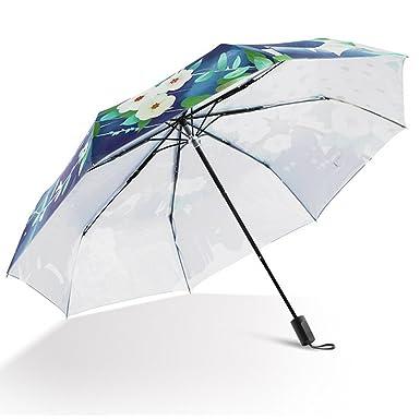 Amazon.com: LifeWheel Ladies Compact Folding Windproof Anti-UV Rain Sun Umbrella (Banana Leave): Clothing