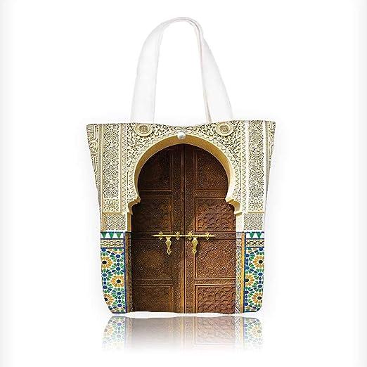 Bolsa de lona con diseño de geometría floral y medallón de ...
