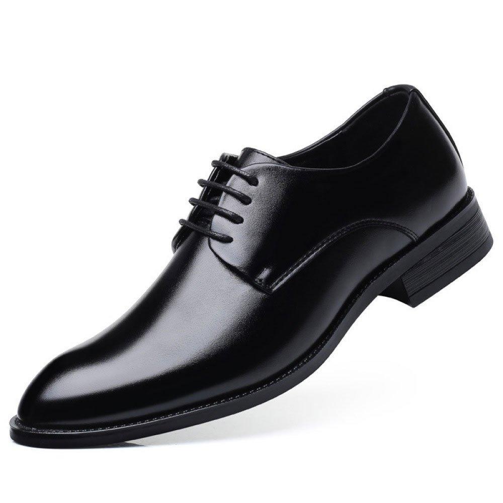 LEDLFIE Herren Echtleder Schuhe Geschäft Anzüge Geschäft Lace up Schuhe Hochzeitsschuhe