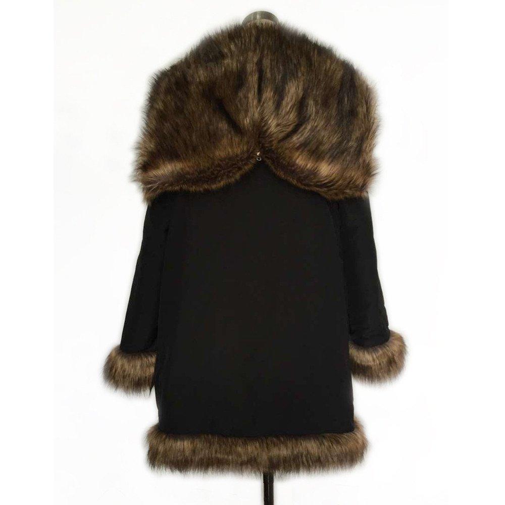 Amazon.com: WUYIMC Men Faux Fur Parka Outwear, Winter Mens Warm Thicker Long Hoodie Jacket Coat Cardigan: Clothing