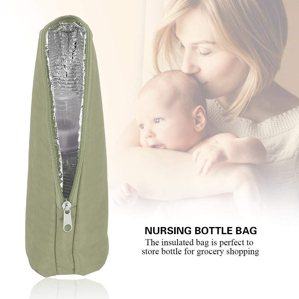 Portable Breast Milk Storage Baby Feeding Bottle Travel Holder Tote Warmer Or Cooler Blue E-CHENG Insulated Baby Nursing Bottle Bag