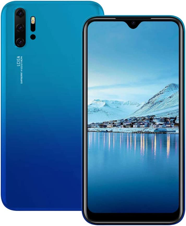 Unlocked Cell Phones, p30Apro 3G (WCDMA:850/2100MHZ) Android Smartphone, 6.26inch IPS Full-Screen, 3G Dual SIM,2GB RAM 16GB ROM, Android 7.0 MTK6580 Quad Core,3800mAh(Apply to T-Mobile) Blue