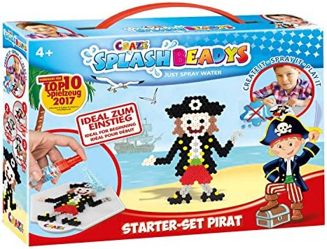 CRAZE- Cuentas de fusibles Splash BEADYS Juego de iniciación Pirate Craft Kit Fuse Beads Incl. Accesorios 10778, Multicolor , color/modelo surtido: Amazon.es: Juguetes y juegos