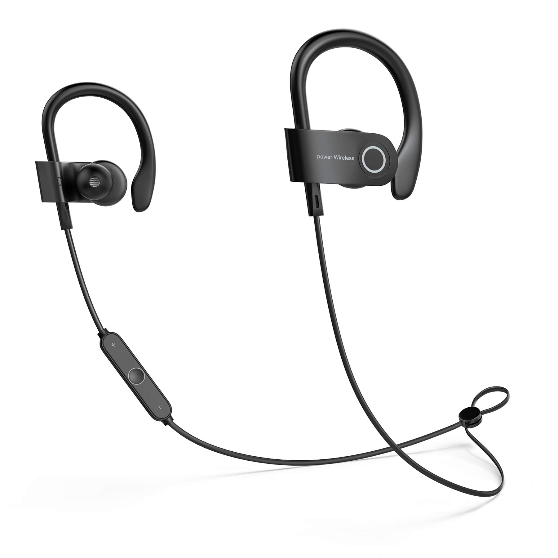Headphones, Sweatproof High Fidelity Stereo Earbuds, Lightweight and Noise Canceling Earbuds Fit for Workout