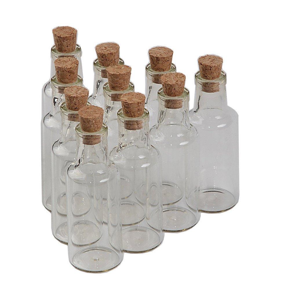 70c6655b2aba TAI DIAN 12pcs 25ml Glass Bottles with Cork Small Transparent Mini Empty  Bottle Glass Vials Jars (12, 25ml)