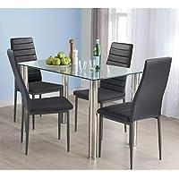 HOMYCASA Juego de mesa y sillas de comedor