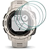 Compatível com Garmin Instinct Smartwatch Protetor de tela de vidro temperado, 2,5D Arc Edges 9 Hardness HD antiarranhões sem