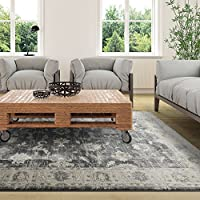 iCustomRug NEW CONTEMPORARY COLLECTION VICTORIAN 53X76 CHARCOAL AREA RUG