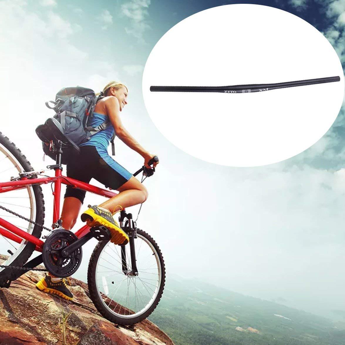 Kongqiabona Profesional MTB Bicicleta Manillar Negro Manillar 31.8mm Aleaci/ón de Aluminio Barra Plana Recta Tubo Grueso Piezas de Bicicleta