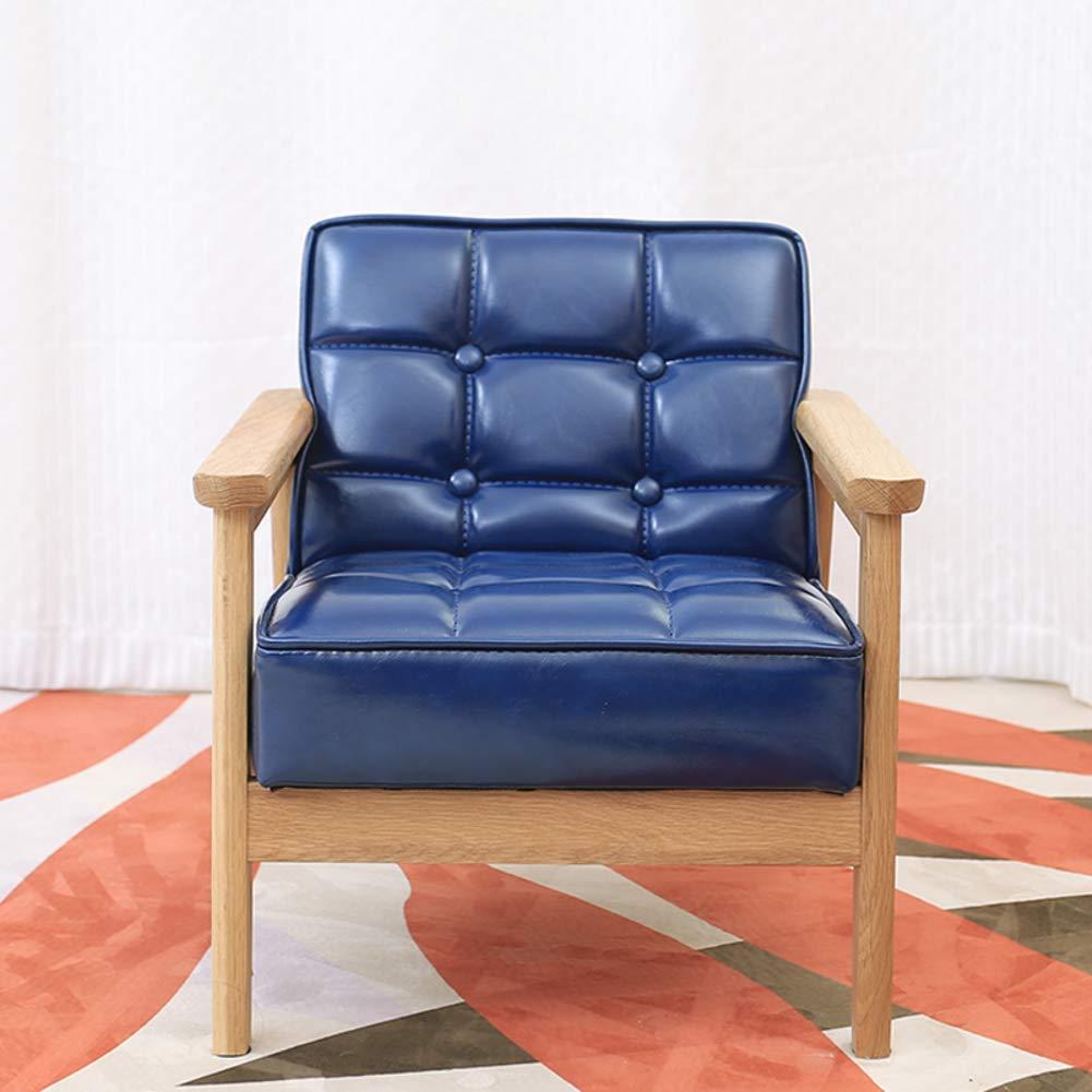 G WJH Sofá Infantil, Sillón, Suave Cómodo Mini sofá Solo Seater Madera Sofás de Cabrito para Dormitorios Sala de Estar-K 43x38x44cm(17x15x17inch) 43x38x44cm(17x15x17inch)