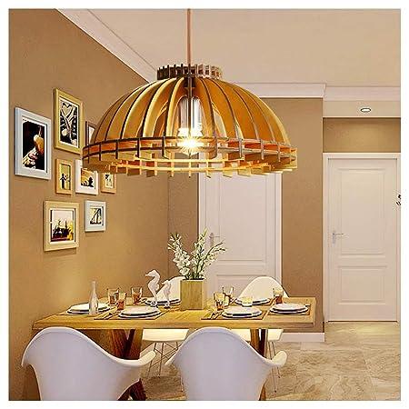 DE_ZHAO Nordic Wooden Art Led Macaron Restaurante Araña ...