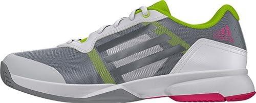 Adidas Sonic Court, Zapatillas de Tenis Para Hombre, Blanco/Verde (Ftwbla/Nocmét/Seliso), 42 EU