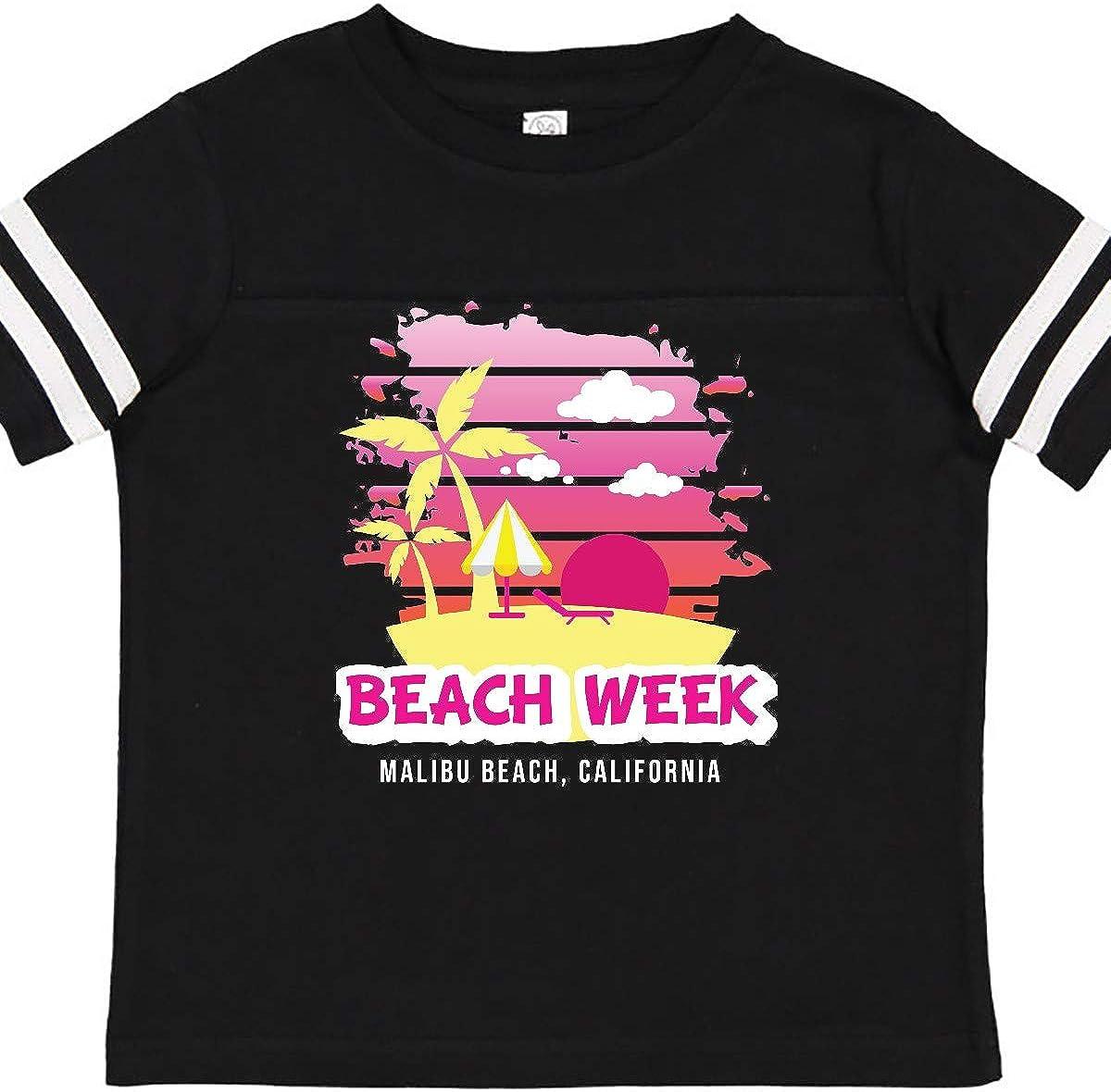 inktastic Beach Week Malibu Beach California with Palm Trees Toddler T-Shirt