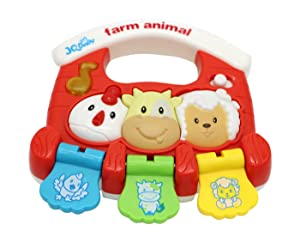 Little Treasures Farm Animal Light Up Sound Effect Rattle Toy That Is Battery Operated for Babies 6 Months and Older