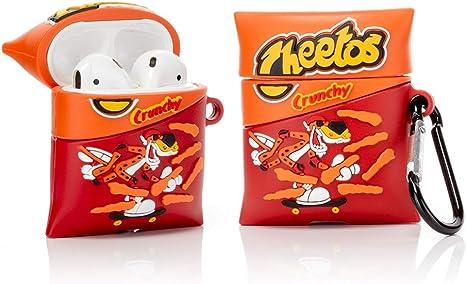 ZAHIUS Airpods Carcasa Funda de Silicona Compatible con Airpods de Apple 1 y 2 Cheetos Snacks Series 3D