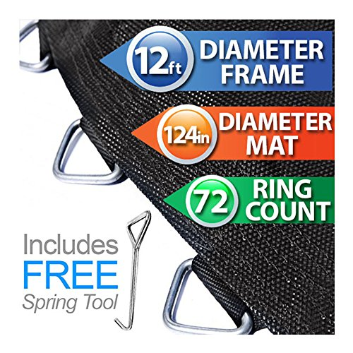 124-Trampoline-Mat-for-12-Round-Trampoline-Frames-That-Have-72-Rings-Using-70-Springs
