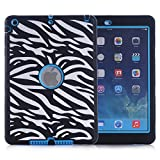 ipad air model number - iPad Air Case, iPad A1474/A1475/A1476 Case, Hocase Shock Absorbent Hybrid Dual Layer Hard Silicone Rubber Protective Case with Cute Pattern for iPad Air 1st Generation (2013) - Zebra / Sky Blue
