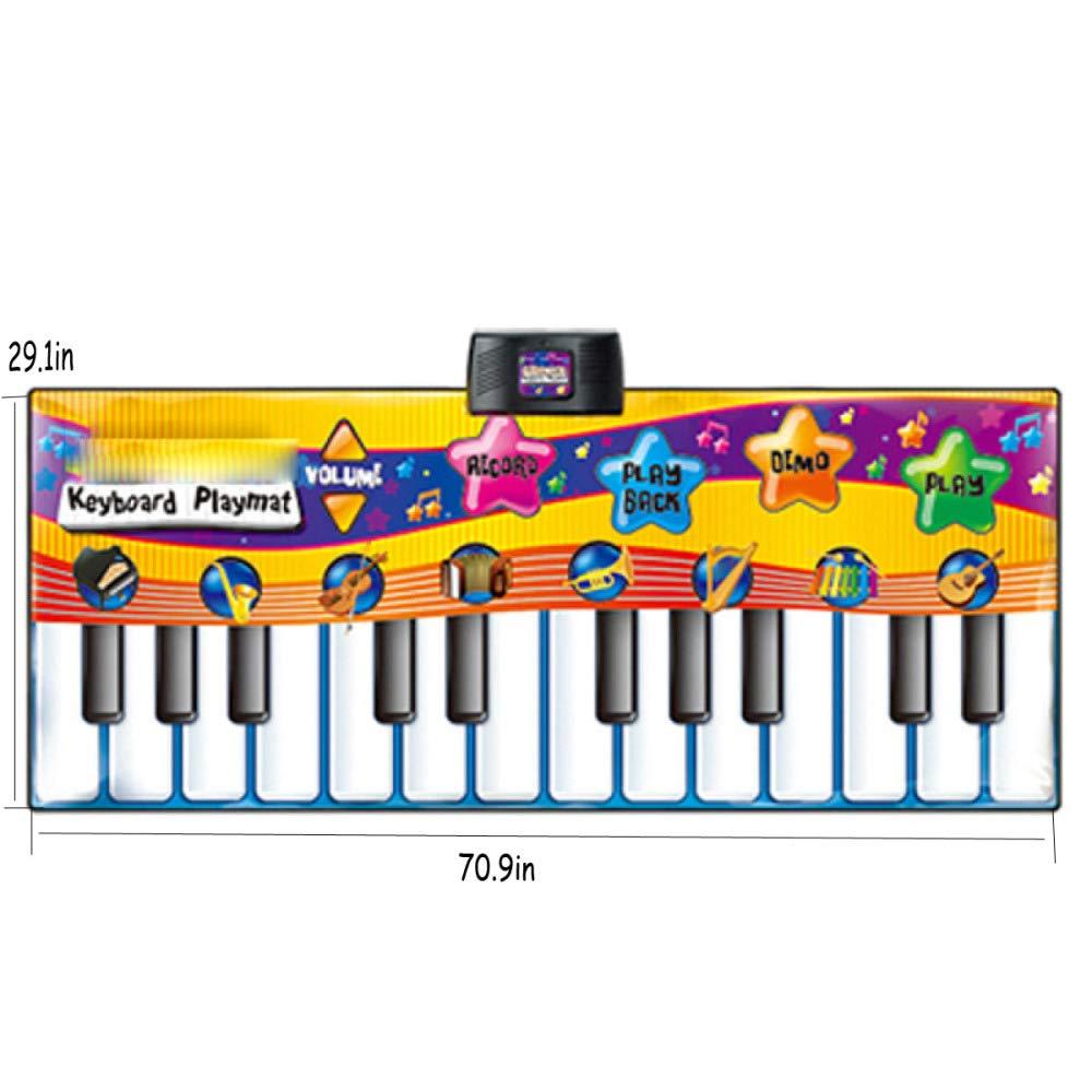 QXMEI Children's Piano Dance Mat Baby Carpet Puzzle Dance Mat 180CM by QXMEI (Image #2)