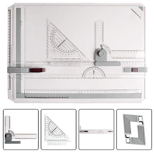 JILoffice - Mesa de Dibujo, Ligera, ergonómica, diseño A3, Tabla ...