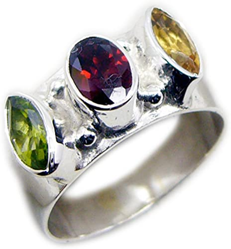 55Carat Natural Garnet Sterling Silver Ring Pear Shape Astrology Birthstone Sizes 4,5,6,7,8,9,10,11,12