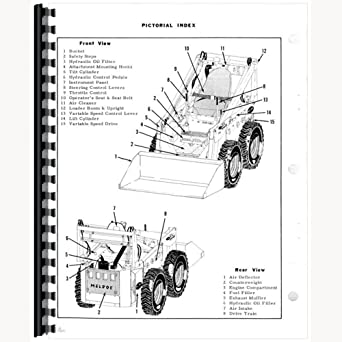 amazon.com: bc-p-m500{66661} new parts manual fits bobcat skid steer loader  model 500: industrial & scientific  amazon.com