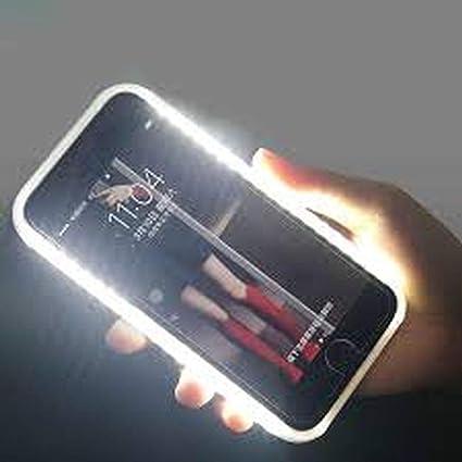 OXO Cover Luminosa per Selfie con Illuminazione LED Ricaricabile Flash Interruttore Dimmerabile per iPhone 6S Bianco